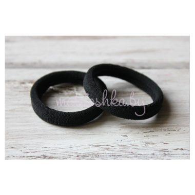Резинка для волос чёрная 4,5 см
