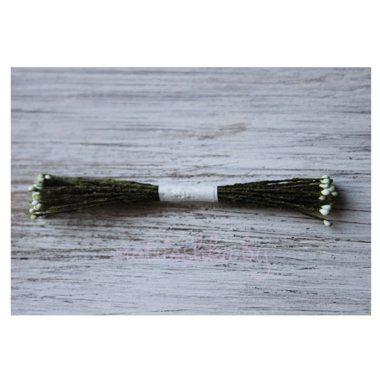 Тычинки каплевидные тёмно-оливковые малые