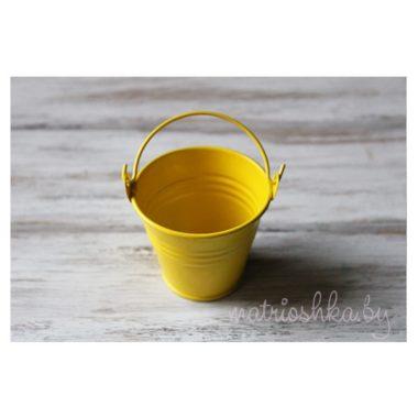 Вёдрышко декоративное жёлтое