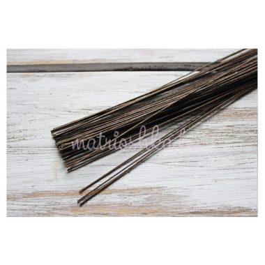 Проволока коричневая в бумажной оплетке, 0.70 мм × 40 см