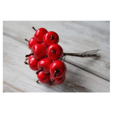 """Яблоко на проволоке """"Красный"""", 2 см"""
