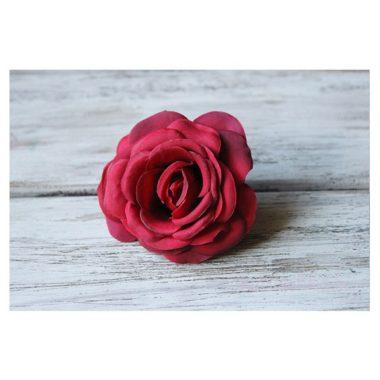 """Головки роз из ткани """"Бордовый"""""""