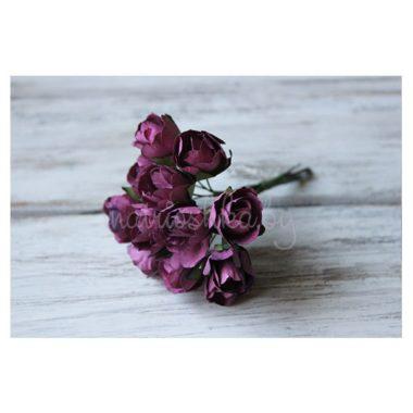 Бутон розы на стебле «Бордово-фиолетовый»