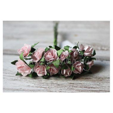 Роза на стебле «Розовый», 1.3 см