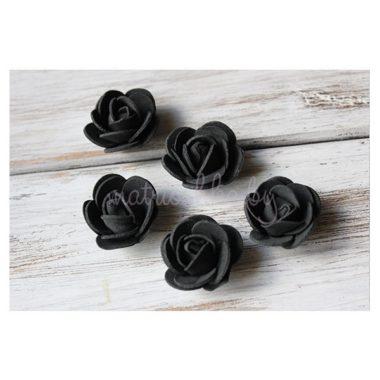 """Головки роз из фоамирана """"Чёрный"""""""