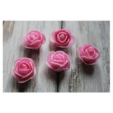Головки роз из фоамирана «Розовый»