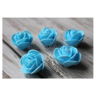Головки роз из фоамирана «Голубой»