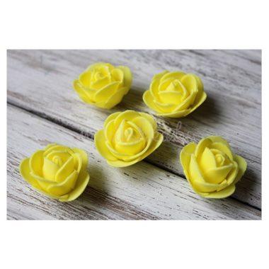 Головки роз из фоамирана «Жёлтый»