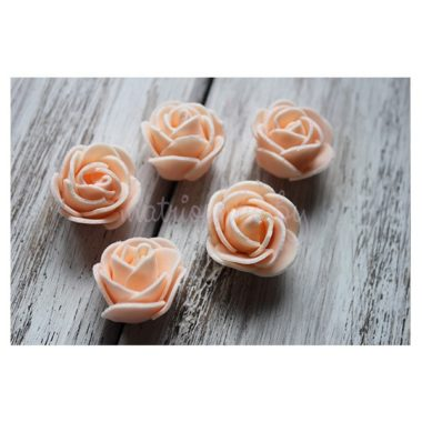 """Головки роз из фоамирана """"Персик"""""""