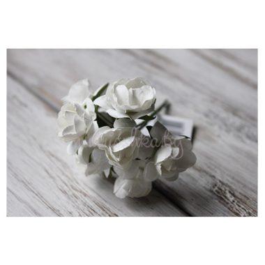 Роза пионовидная на стебле «Белый», 2,7 см