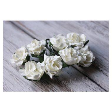Искусственный цветок Роза «Молочный», 3 см