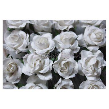 """Искусственный цветок Роза """"Белый"""", 3 см"""