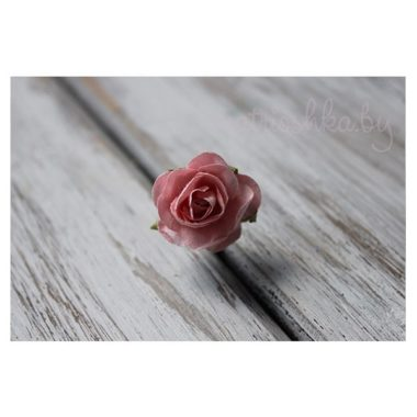Искусственный цветок Роза «Розовый», 2 см