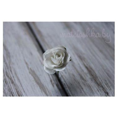 Искусственный цветок Роза «Белый», 2 см