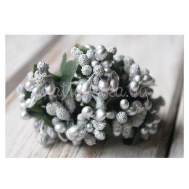 Букет из тычинок «Серебро»
