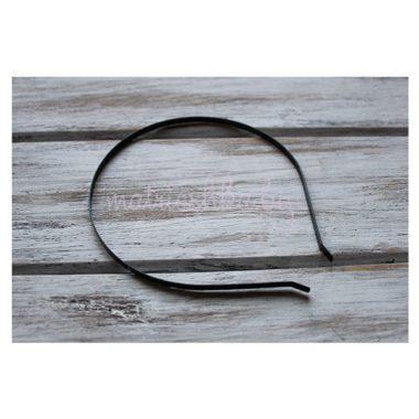 Ободок металлический 5 мм (чёрный)