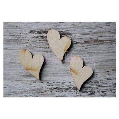 Заготовка деревянная Сердечко, 3 см