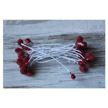 Тычинки «ягодки в сахаре», красные