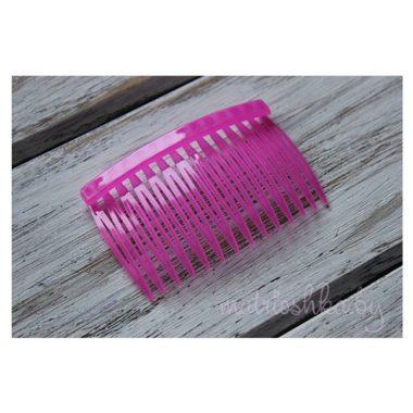 Гребень пластиковый ярко-розовый матовый, 7см