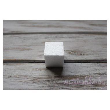 Заготовка из пенопласта кубик, 4 см