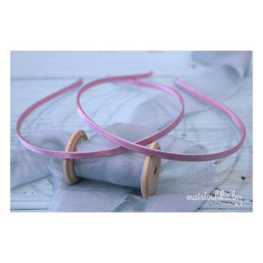 Ободок металлический в обмотке «Нежно-розовый»