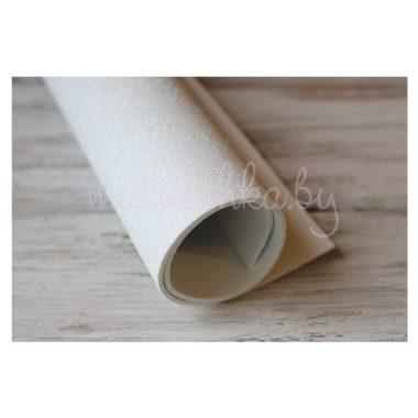 Глиттерный фоамиран «Белый», 2 мм