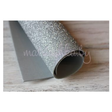 Глиттерный фоамиран «Серебристый», 2 мм