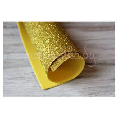 Глиттерный фоамиран «Светлое золото», 2 мм