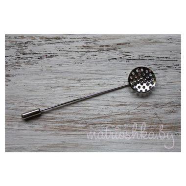 Основа для броши с иглой, основа для бутоньерки, шляпная булавка