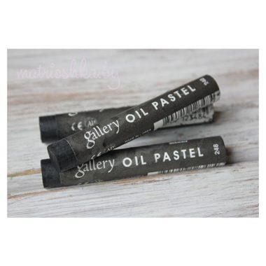 Профессиональная мягкая масляная пастель #248 «Чёрный»