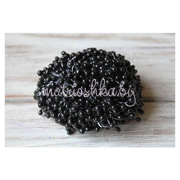 Тычинки глянцевые крупные «Чёрный»