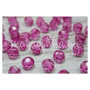 Бусины гранённые прозрачные «розовый»