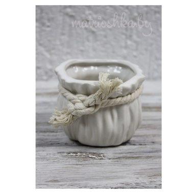 Кашпо керамическое «Мешочек», M