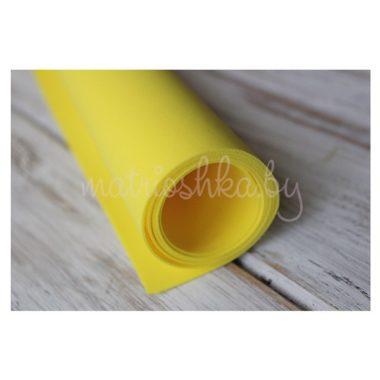 Фоамиран «Жёлтый», 60 х 35 см