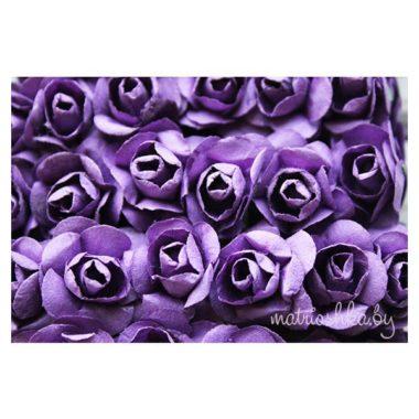 Искусственный цветок Роза «Фиолетовый»