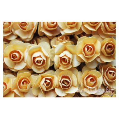 Искусственный цветок Роза «Жёлтый»