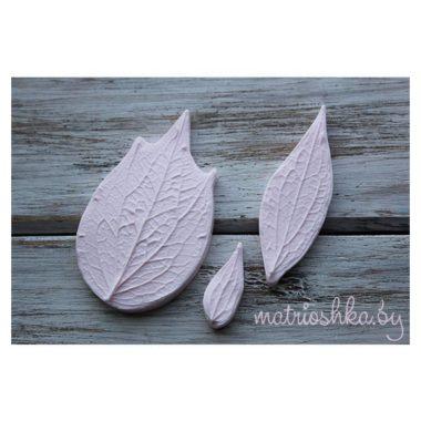 Набор молдов Листья Клематиса натуральные (3 шт)