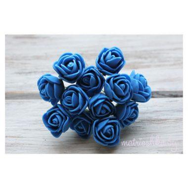 Роза на проволоке «Синий», 2 см