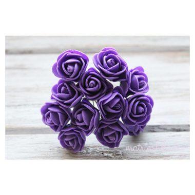 Роза на проволоке «Фиолетовый», 2 см