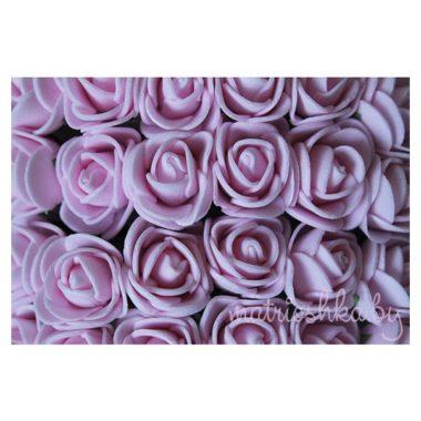 """Роза на проволоке """"Нежно-розовый"""", 2 см"""