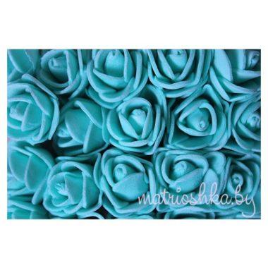 Роза на проволоке «Бирюзовый», 2 см