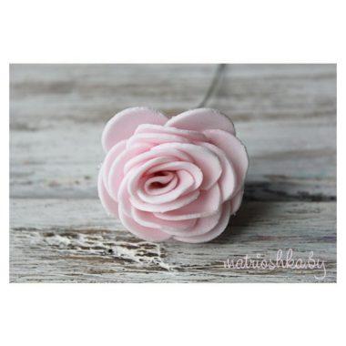 "Раскрытая роза на ножке ""Нежно-розовый"""