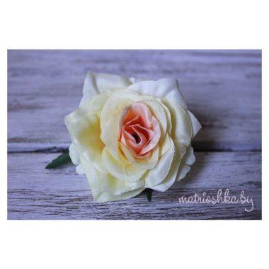 """Головка розы """"Кремово-персиковый"""""""