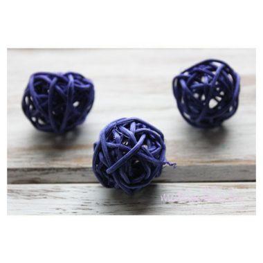 Ротанговый шар «Фиолетовый», 3 см