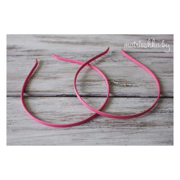Ободок металлический в обмотке «Розовый»