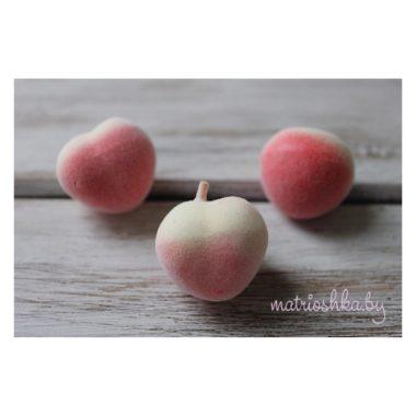 """Персик мини """"жёлто-розовый"""", 2 см"""