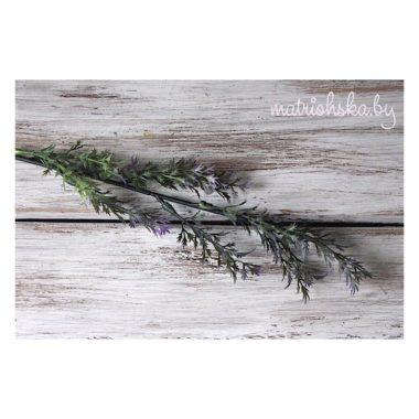 """Ветка с игольчатой листвой """"Зелёно-сиреневый"""", 25 см"""