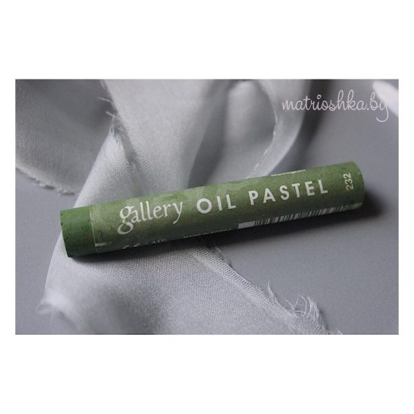 Профессиональная мягкая масляная пастель #232 «Болотный зелёный»