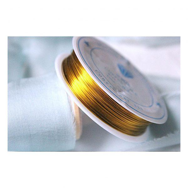 "Проволока на катушке ""Золото"", 0.3 мм"