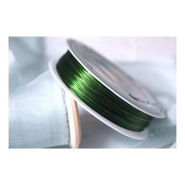 """Проволока на катушке """"Зелёный"""",  0,4 мм"""